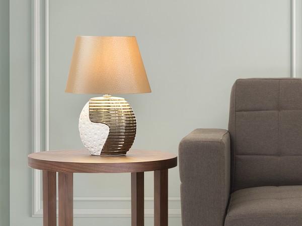 Tischlampe ESLA kupfer-beige CH