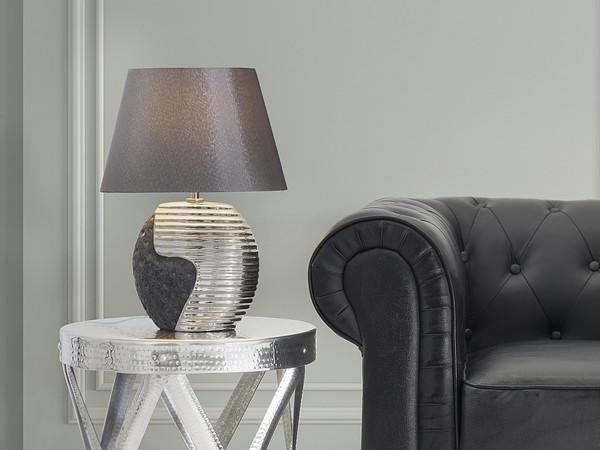 Tischlampe ESLA schwarz-silber CH